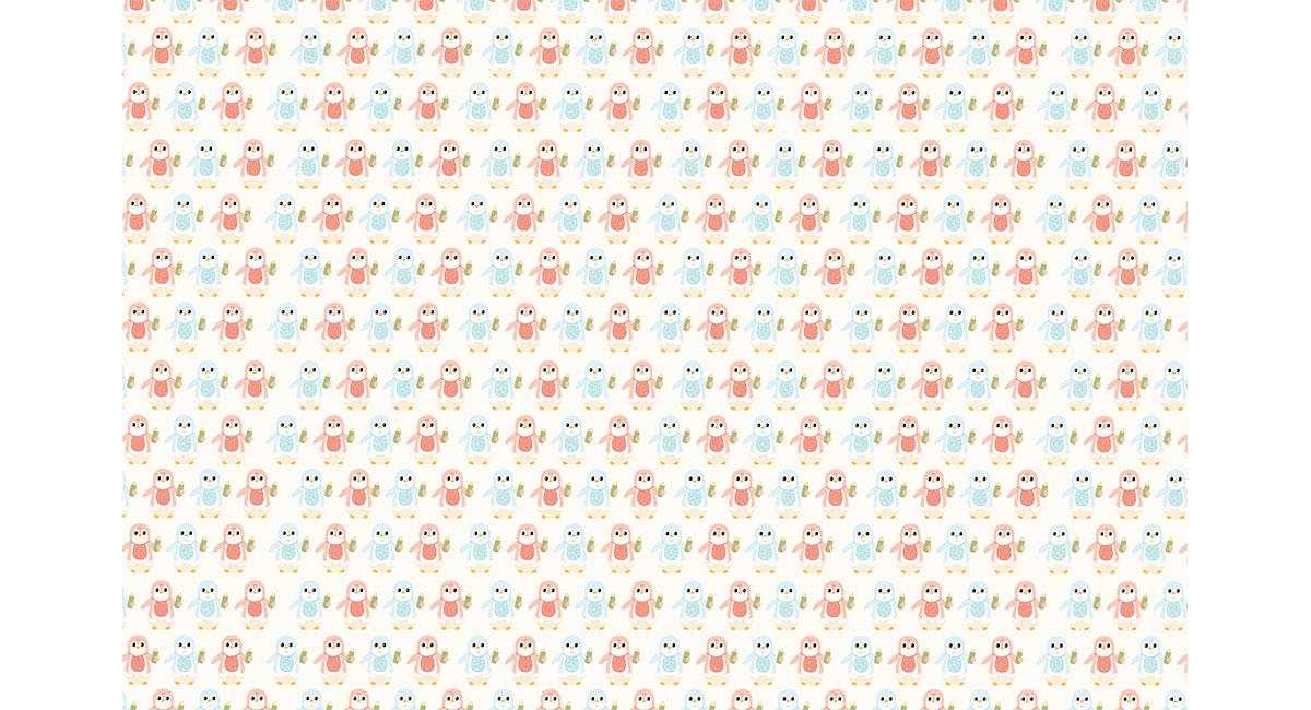 Baby Penguin Gift Wrap | Jennifer Marlin Illustration & Design