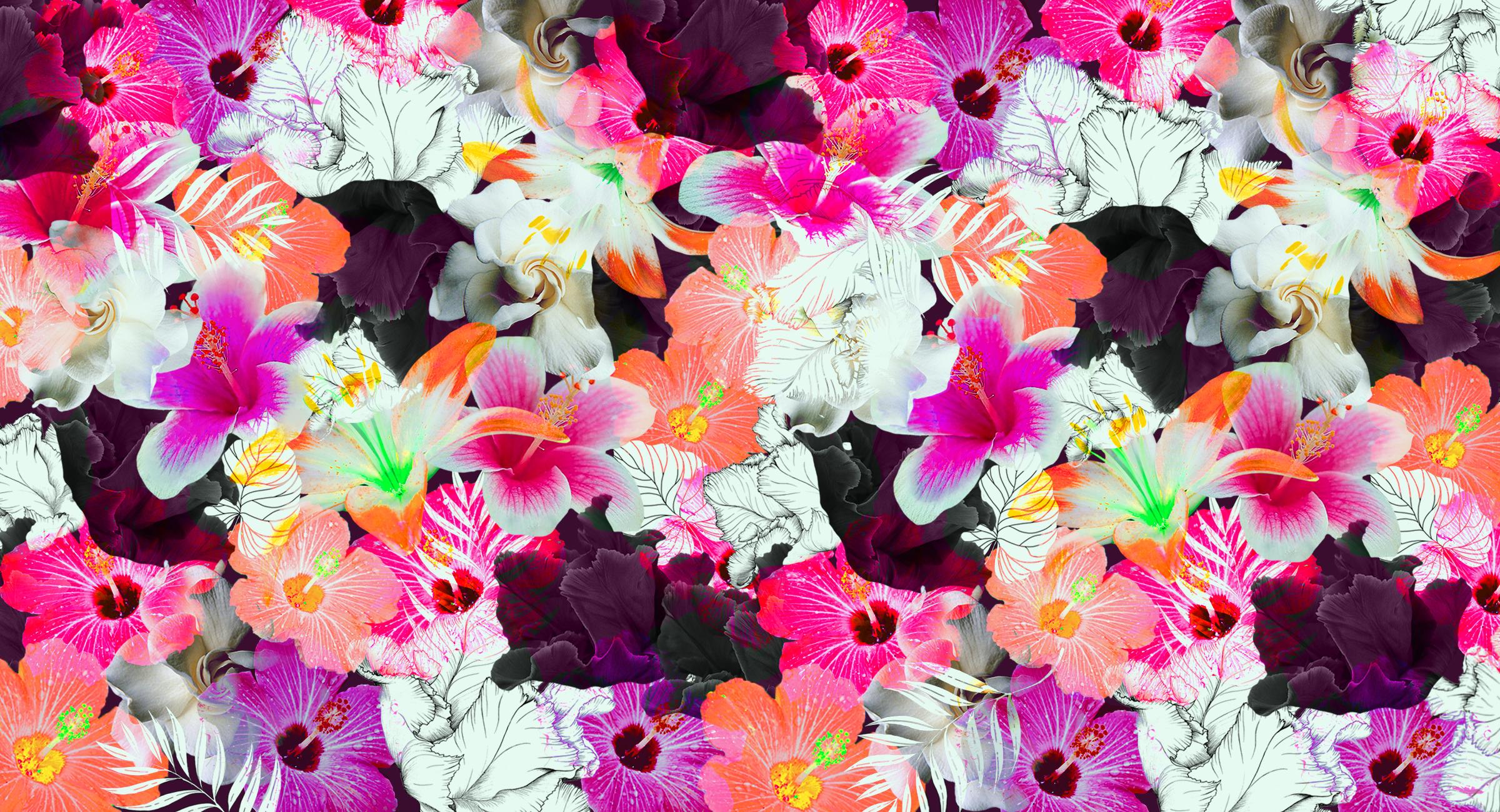 Flamingoes & Florals Swim S/S 16